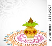 indian festival of lights ... | Shutterstock .eps vector #158414027