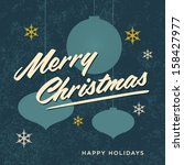 merry christmas card retro... | Shutterstock .eps vector #158427977