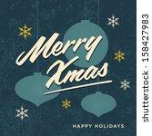 merry christmas card retro... | Shutterstock .eps vector #158427983