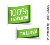 natural product labels. vector. | Shutterstock .eps vector #158428307