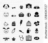 dog icons vector | Shutterstock .eps vector #158434727