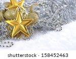 golden and silver  christmas... | Shutterstock . vector #158452463
