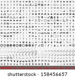 vector large set of 500 very... | Shutterstock .eps vector #158456657