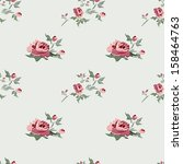 seamless floral background with ... | Shutterstock .eps vector #158464763