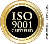 ISO 9001 Certified Gold Emblem