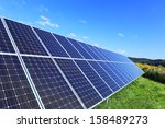 detail of the solar power... | Shutterstock . vector #158489273