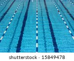 Empty Pool Lanes Seen From Above