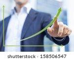 businessman presenting a... | Shutterstock . vector #158506547