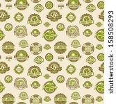 seamless background pattern of... | Shutterstock .eps vector #158508293