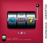 Slot Machine Illustration  Sig...