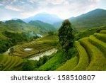 the terraced fields on the... | Shutterstock . vector #158510807