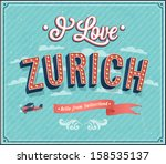 vintage greeting card from... | Shutterstock .eps vector #158535137
