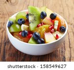 White Bowl Of Fresh Healthy...
