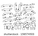 ribbons set vector... | Shutterstock .eps vector #158574503