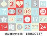 advent calendar  | Shutterstock .eps vector #158607857