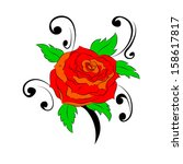 rose | Shutterstock . vector #158617817