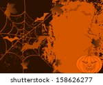 orange grunge halloween... | Shutterstock .eps vector #158626277