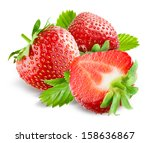 strawberry. collection isolated ... | Shutterstock . vector #158636867