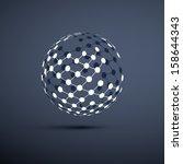 networks   globe design | Shutterstock .eps vector #158644343