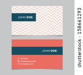 business card template  red... | Shutterstock .eps vector #158661293