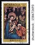 nicaragua   circa 1983  a stamp ...   Shutterstock . vector #158672693