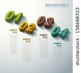 abstract 3d infographic elements | Shutterstock .eps vector #158688323