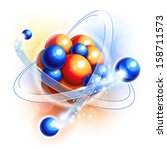 molecule  atoms and particles... | Shutterstock .eps vector #158711573