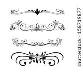 calligraphic pattern | Shutterstock . vector #158719877