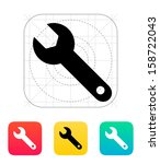 repair wrench icon. vector...