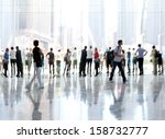 abstakt image of people in the... | Shutterstock . vector #158732777
