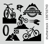 Mountain bikes - stock vector
