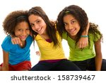 multi ethnic group of female... | Shutterstock . vector #158739467