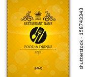 restaurant menu. | Shutterstock .eps vector #158743343