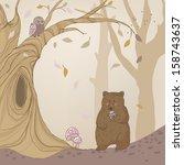 bear in autumn forest | Shutterstock .eps vector #158743637