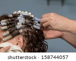 perm at the beauty salon | Shutterstock . vector #158744057