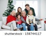 portrait of happy... | Shutterstock . vector #158744117