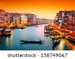 Venice  Italy. Gondola Floats...