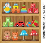 shelfs with toys. vector | Shutterstock .eps vector #158761187