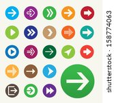 set of 22 vector arrow icons. | Shutterstock .eps vector #158774063