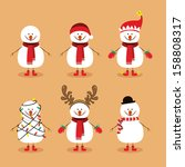 snowman design over background... | Shutterstock .eps vector #158808317