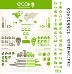 flat infographic elements.... | Shutterstock .eps vector #158812403
