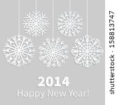 Happy New Year 2014 Card With...