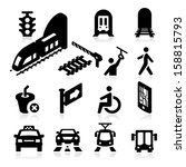 public transportation icons | Shutterstock .eps vector #158815793