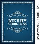 merry christmas postcard... | Shutterstock .eps vector #158816423