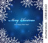 christmas background with... | Shutterstock .eps vector #158818163