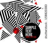 Retro pattern of geometric shapes. Geometric hipster retro background with place for your text. Retro triangle background    Shutterstock vector #158820383
