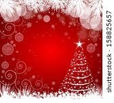 christmas background with... | Shutterstock .eps vector #158825657