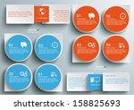 connected rectangles on the... | Shutterstock .eps vector #158825693