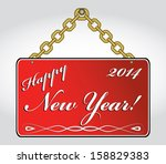 happy new year 2014 hanging... | Shutterstock .eps vector #158829383