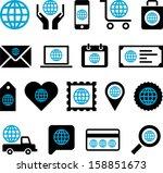 conceptual world icons   Shutterstock .eps vector #158851673